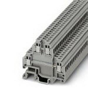 Phoenix Contact Phoenix 1414129 Micro Terminal; 17.5 Amp, 400 Volt, M2 Screw Connection, NS 15, 35 DIN Rail Mount, Polyamide, Gray