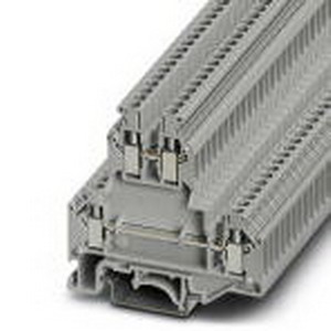 Phoenix Contact Phoenix 2771010 Double-Level Terminal Block; 24 Amp, 500 Volt, M3 Screw Connection, NS 35/7.5, NS 35/15, NS 32 DIN Rail Mount, Polyamide, Gray