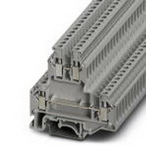 Phoenix Contact Phoenix 2771146 SR2PACK Double-Level Terminal Block; 32 Amp, 500 Volt, M3 Screw Connection, NS 35/7.5, NS 35/15, NS 32 DIN Rail Mount, Polyamide, Gray