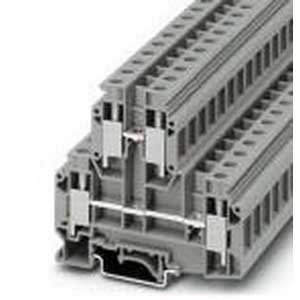 Phoenix Contact Phoenix 2772077 Double-Level Terminal Block; 57 Amp - 57 Amp, 500 Volt, M4 Screw Connection, NS 35/7.5, NS 35/15, NS 32 DIN Rail Mount, Polyamide, Gray