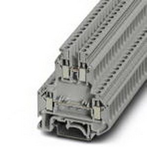 Phoenix Contact Phoenix 2774017 Double-Level Terminal Block; 32 Amp, 500 Volt, M3 Screw Connection, NS 35/7.5, NS 35/15, NS 32 DIN Rail Mount, Polyamide, Gray