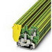 Phoenix Contact Phoenix 2775184 Ground Modular Terminal Block; 32 Amp, 690 Volt, M3 Screw Connection, 1 Position,NS 35/7.5, NS 35/15, NS 32 DIN Rail Mount, Polyamide, Green/Yellow