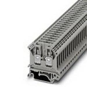 Phoenix 2812018 Disconnect Terminal Block; 16 Amp, 500 Volt, M3 Screw Connection, NS 35/7.5, NS 35/15, NS 32 DIN Rail Mount, Polyamide, Gray