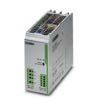 Phoenix Contact Phoenix 2866459 TRIO-PS/ 3AC/24DC/10 Power Supply Unit; 10 Amp, 24 Volt DC Output, 3 Phase, 240 Watt, Horizontal and NS 35 DIN Rail Mount