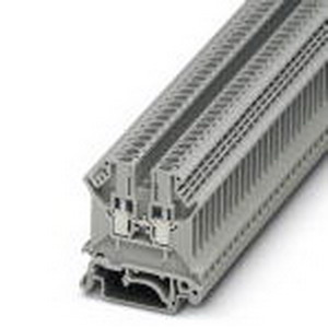 Phoenix Contact Phoenix 3001501 Feed-Thru Terminal Block; 24 Amp, 800 Volt, M3 Screw Connection, NS 35/NS 32 DIN Rail Mount, Polyamide, Gray