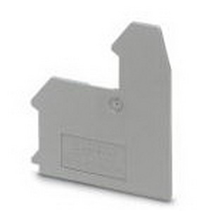 Phoenix Contact Phoenix 3002539 D-UK 3-RETURN End Cover; Gray