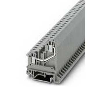 Phoenix 3002597 Feed-Thru Terminal Block; 41 Amp, 500 Volt, M3 Screw Connection, Polyamide, Gray