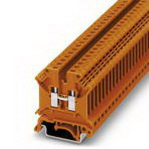 Phoenix Contact Phoenix 3002908 Feed-Thru Terminal Block; 32 Amp, 800 Volt, M3 Screw Connection, NS 35/7.5, NS 35/15, NS 32 DIN Rail Mount, Polyamide, Orange