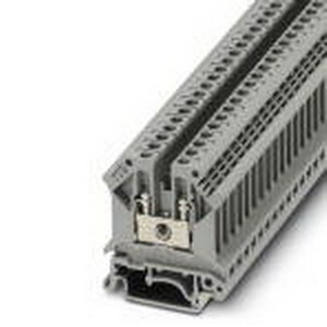 Phoenix 3004016 Feed-Thru Terminal Block; 32 Amp, 800 Volt, M3 Screw Connection, NS 35/7.5, NS 35/15, NS 32 DIN Rail Mount, Polyamide, Gray