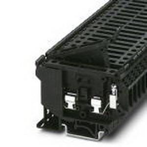 Phoenix 3004142 Fuse Modular Terminal Block; 6.3 Amp, 500 Volt, M3 Screw Connection, 1 Position,DIN Rail Mount, Polyamide, Black