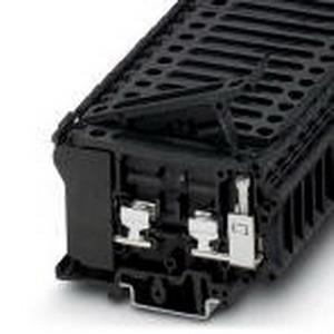 Phoenix Contact Phoenix 3004171 Fuse Modular Terminal Block; 10 Amp, 500 Volt, M4 Screw Connection, 1 Position,32 mm, 35mm DIN Rail Mount, Polyamide, Black
