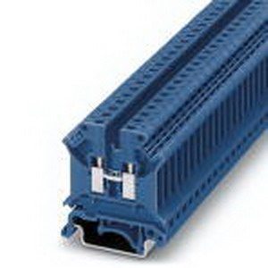 Phoenix 3004388 Feed-Thru Terminal Block; 32 Amp, 800 Volt, M3 Screw Connection, NS 35/7.5, NS 35/15, NS 32 DIN Rail Mount, Polyamide, Blue