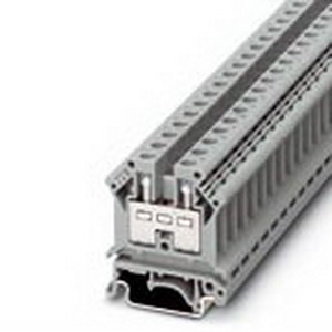 Phoenix Contact Phoenix 3005015 Feed-Thru Terminal Block; 57 Amp, 800 Volt, M4 Screw Connection, NS 35/7.5, NS 35/15 DIN Rail Mount, Polyamide, Gray