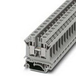 Phoenix Contact Phoenix 3005073 Feed-Thru Terminal Block; 57 Amp, 800 Volt, M4 Screw Connection, NS 35/7.5, NS 35/15, NS 32 DIN Rail Mount, Polyamide, Gray