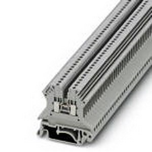 Phoenix Contact Phoenix 3005837 Feed-Thru Terminal Block; 17.5 Amp, 500 Volt, M2 Screw Connection, NS 35/NS 32 DIN Rail Mount, Polyamide, Gray