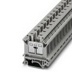 Phoenix Contact Phoenix 3006153 Installation Terminal Block; 76 Amp, 400 Volt, M4 Screw Connection, NS 35/7.5, NS 35/15, NS 32 DIN Rail Mount, Polyamide, Gray