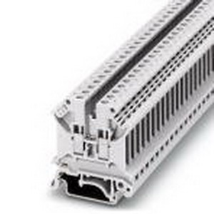 Phoenix 3007327 Feed-Thru Terminal Block; 32 Amp, 800 Volt, M3 Screw Connection, NS 35/7.5, NS 35/15, NS 32 DIN Rail Mount, Polyamide, White