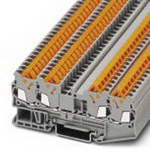 Phoenix Contact Phoenix 3205077 Feed-Thru Terminal Block; 17.5 Amp, 800 Volt, Quick Connection, NS 35/7.5 DIN Rail Mount, Polyamide, Gray
