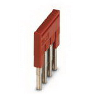 Phoenix 3030187 FBS 4-5 Plug-In Bridge; 4 Position, Red, Tab