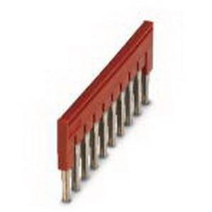 Phoenix 3030271 FBS 10-6 Plug-In Bridge; 10 Position, Red, Tab