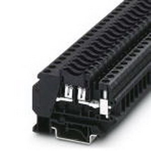 Phoenix Contact Phoenix 3118203 Fuse Modular Terminal Block; 30 Amp, 250 Volt, M4 Screw Connection, 1 Position,DIN Rail Mount, Polyamide, Black