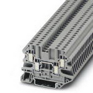 Phoenix 3044542 RIF-2-RPT-LDP-24DC/4X21 Feed-Thru Terminal Block; 24 Amp, 500 Volt, M3 Screw Connection, NS 35/7.5, NS 35/15 DIN Rail Mount, Polyamide, Gray