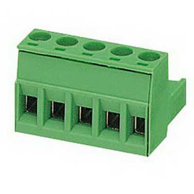 Phoenix Contact Phoenix 1752399 Printed-Circuit Board Connector/Plug Component; 12 Amp, 320 Volt, M3 Screw Connection, 5 Position, Polyamide, Green