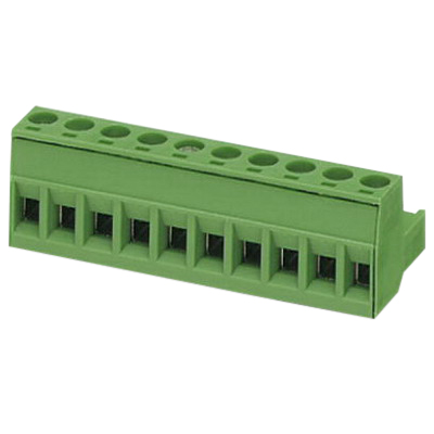 Phoenix 1754601 Printed-Circuit Board Connector/Plug Component; 12 Amp, 320 Volt, M3 Screw Connection, 10 Position,Through Hole Mount, Polyamide, Green
