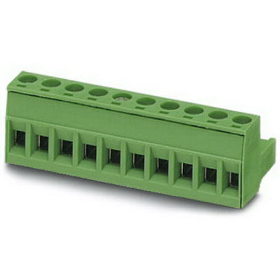 Phoenix Contact Phoenix 1757051 Printed-Circuit Board Connector/Plug Component; 12 Amp, 320 Volt, M3 Screw Connection, 6 Position,Through Hole Mount, Polyamide, Green