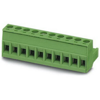 Phoenix 1757064 Printed-Circuit Board Connector/Plug Component; 12 Amp, 320 Volt, M3 Screw Connection, 7 Position, Polyamide, Green