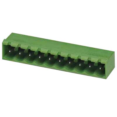Phoenix Contact Phoenix 1757394 MSTBA 2.5/17-G-5.08 Base Strip/Header; 4 Kilo-Volt (Surge), 320 Volt (Rated III/2), 12 Amp, Green, Plug-In