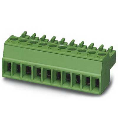 Phoenix 1803617 PLC-RPT-120UC/21 Printed-Circuit Board Connector/Plug Component; 8 Amp, 160 Volt, M2 Screw Connection, 6 Position, Polyamide, Green