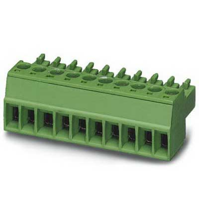 Phoenix Contact Phoenix 1803714 PSR-SCP- 24DC/SDC4/2X1/B Printed-Circuit Board Connector/Plug Component; 8 Amp, 160 Volt, M2 Screw Connection, 16 Position, Polyamide, Green