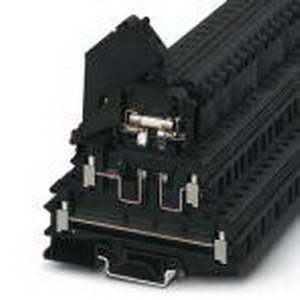 Phoenix Contact Phoenix 3007204 FGRMS31-24-LED Fuse Modular Terminal Block; 32 Amp - 6.3 Amp, 400 Volt, M3 Screw Connection, NS 35/7.5, NS 35/15, NS 32 DIN Rail Mount, Polyamide, Black