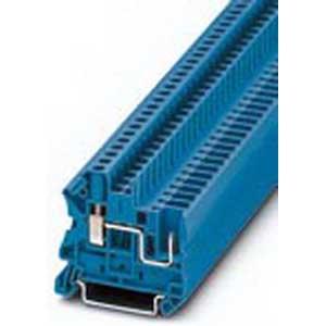 Phoenix 3045596 Feed-Thru Terminal Block; 32 Amp, 800 Volt, M3 Screw/Plug-In Connection, NS 35/7.5, NS 35/15 DIN Rail Mount, Polyamide, Blue