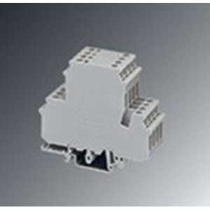 Phoenix 2800017 Feed-Thru Terminal Block; 26 Amp, 400 Volt, M3 Screw Connection, NS 35/7.5, NS 35/15, NS 32 DIN Rail Mount, Polyamide, Gray