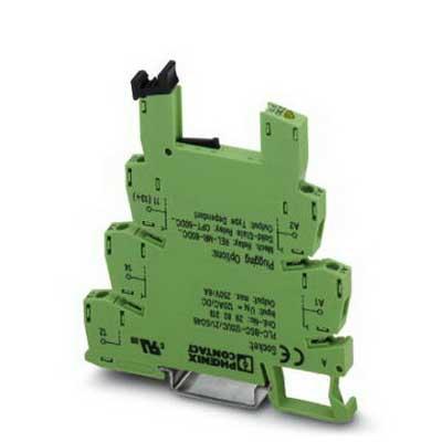 Phoenix 2966032 PLC-BSC-120UC/21 Relay Socket; 120 Volt AC/DC, NS 35/7.5 Din Rail Mount