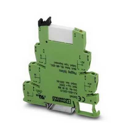 Phoenix Contact Phoenix 2966184 PLC-RSC- 24UC/21 Relay Module; 11 Milli-Amp At 24 Volt AC, 8.5 Milli-Amp At 24 Volt DC, 120 Volt AC/DC, 1-Pole, NS 35/7.5 DIN Rail Mount