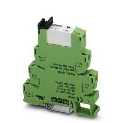 Phoenix Contact Phoenix 2967073 PLC-RSC- 24UC/21-21 Relay Module; 17.5 Milli-Amp Input, 24 Volt AC/DC, 2-Pole, NS 35/7.5 DIN Rail Mount