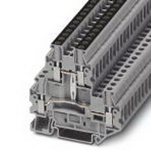 Phoenix 3044733 Double-Level Terminal Block; 30 Amp, 800 Volt, M3 Screw Connection, Polyamide, Gray