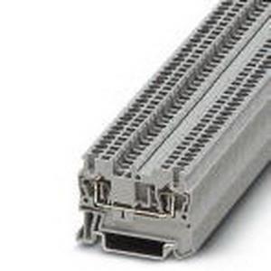 Phoenix Contact Phoenix 3031076 Feed-Thru Terminal Block; 17.5 Amp, 500 Volt, Spring-Cage Connection, NS 35/7.5, NS 35/15 DIN Rail Mount, Polyamide, Gray