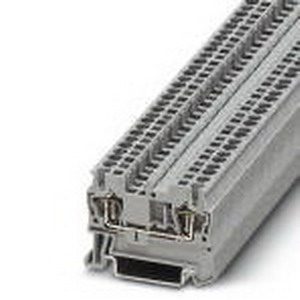 Phoenix 3031212 Feed-Thru Terminal Block; 24 Amp, 800 Volt, Spring-Cage Connection, NS 35/7.5, NS 35/15 DIN Rail Mount, Polyamide, Gray