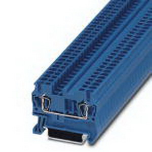 Phoenix Contact Phoenix 3031225 Feed-Thru Terminal Block; 24 Amp, 800 Volt, Spring-Cage Connection, NS 35/7.5, NS 35/15 DIN Rail Mount, Polyamide, Blue