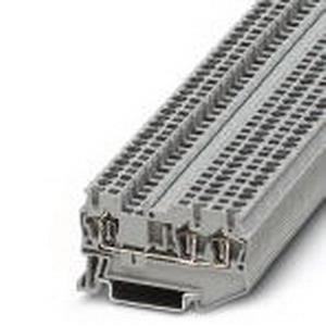 Phoenix 3031241 Feed-Thru Terminal Block; 24 Amp, 800 Volt, Spring-Cage Connection, NS 35/7.5, NS 35/15 DIN Rail Mount, Polyamide, Gray