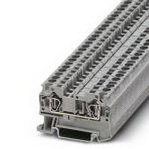 Phoenix 3031364 Feed-Thru Terminal Block; 32 Amp, 800 Volt, Spring-Cage Connection, NS 35/7.5, NS 35/15 DIN Rail Mount, Polyamide, Gray