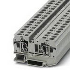 Phoenix Contact Phoenix 3031487 PR2-RSP3-LV-120AC/2X21 Feed-Thru Terminal Block; 41 Amp, 1000 Volt, Spring-Cage Connection, NS 35/7.5, NS 35/15 DIN Rail Mount, Polyamide, Gray