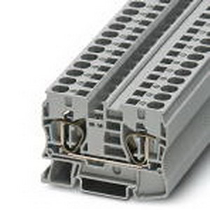Phoenix Contact Phoenix 3036110 PLC-OSC-120UC/ 24DC/ 2 Feed-Thru Terminal Block; 57 Amp, 1000 Volt, Spring-Cage Connection, NS 35/7.5, NS 35/15 DIN Rail Mount, Polyamide, Gray