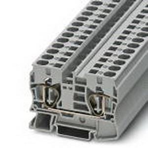 Phoenix 3036110 PLC-OSC-120UC/ 24DC/ 2 Feed-Thru Terminal Block; 57 Amp, 1000 Volt, Spring-Cage Connection, NS 35/7.5, NS 35/15 DIN Rail Mount, Polyamide, Gray