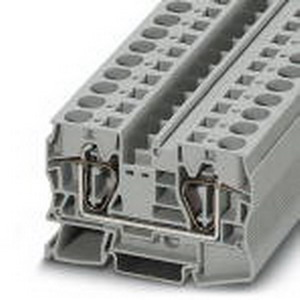 Phoenix Contact Phoenix 3036149 PLC-RSC-120UC/21-21AU Feed-Thru Terminal Block; 76 Amp, 1000 Volt, Spring-Cage Connection, NS 35/15, NS 35/7.5 DIN Rail Mount, Polyamide, Gray