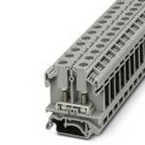 Phoenix 0790404 PLC-RSC-120UC/21/SO46 Feed-Thru Terminal Block; 41 Amp, 800 Volt, M4 Bolt Connection, Polyamide, Gray